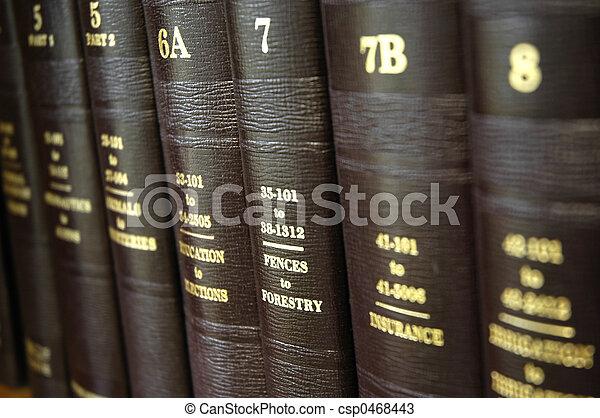Libros de leyes - csp0468443