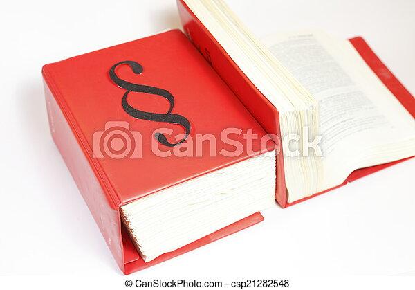 Libros de leyes - csp21282548