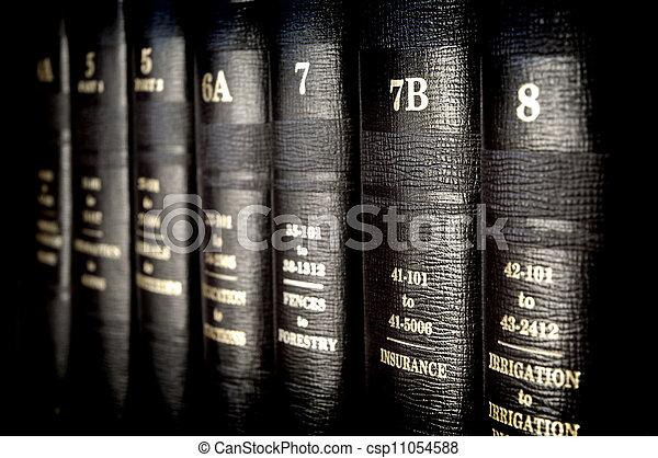 Libros de leyes - csp11054588