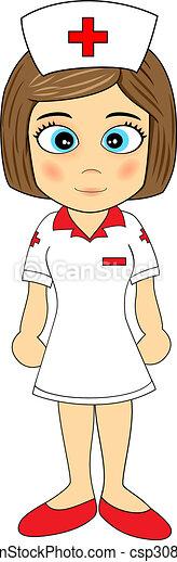 Linda enfermera - csp3080359