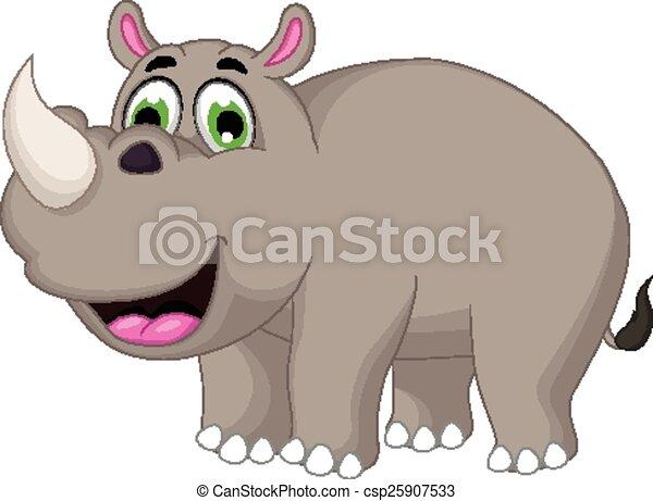Lindo dibujo de rinoceronte - csp25907533