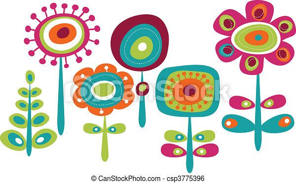 Bonitas flores coloridas - csp3775396