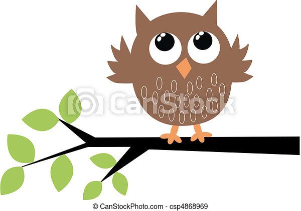 Un lindo búho marrón - csp4868969