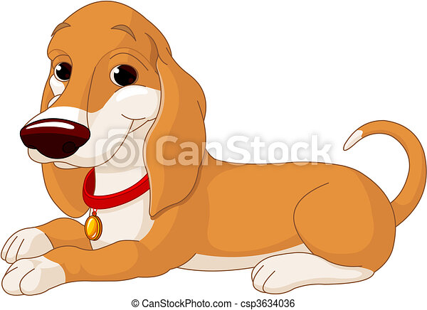 Lindo perro mentiroso - csp3634036