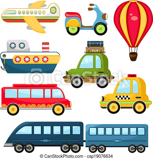 Lindo transporte vectorial - csp19076634