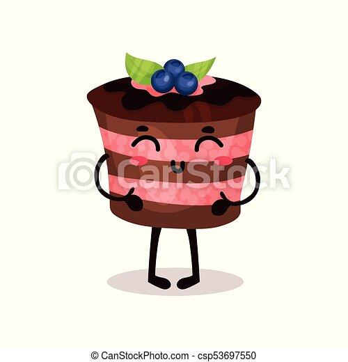 Lindo y gracioso dibujo animado vector de personaje de Ilustración - csp53697550