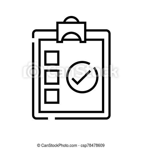 lineal, señal, contorno, línea, icono, forma, ilustración, símbolo., vector, concepto - csp78478609