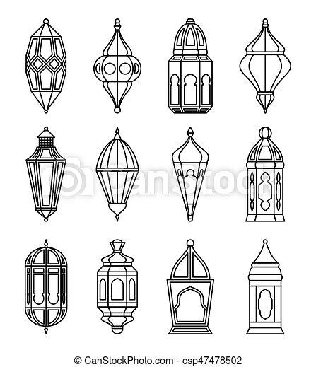 Linternas árabes o islámicos - csp47478502