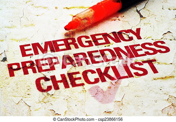 Lista de control de emergencia - csp23866156