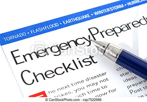 Control de preparación de emergencia - csp7522686