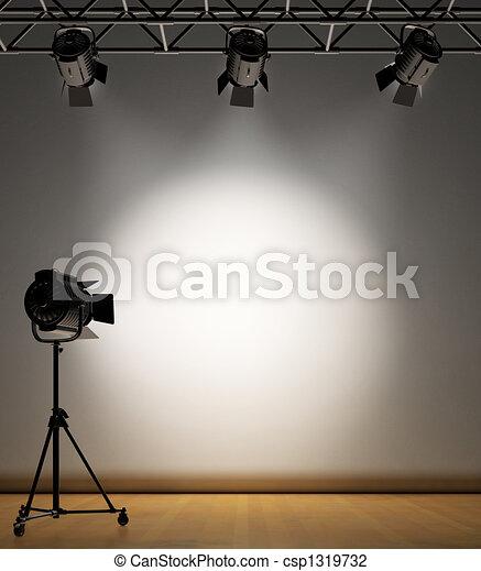 La pared iluminada - csp1319732