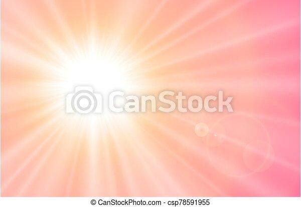 llamarada, lente, sol - csp78591955