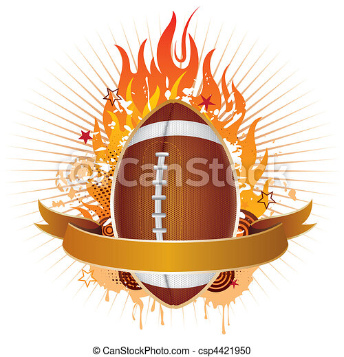 El fútbol americano con llamas - csp4421950