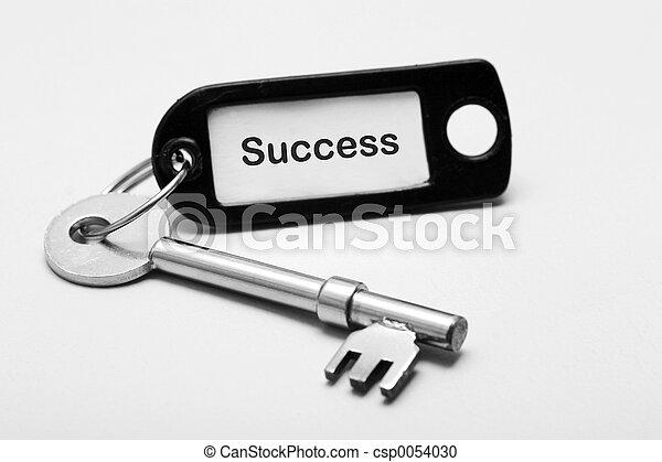 La clave del éxito - csp0054030