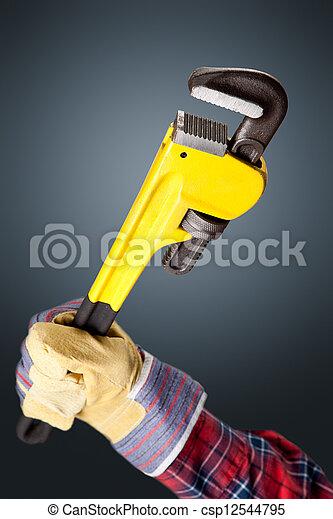 Una llave inglesa - csp12544795