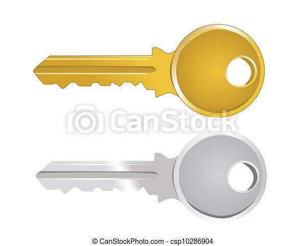 Ilustración del vector de la llave - csp10286904