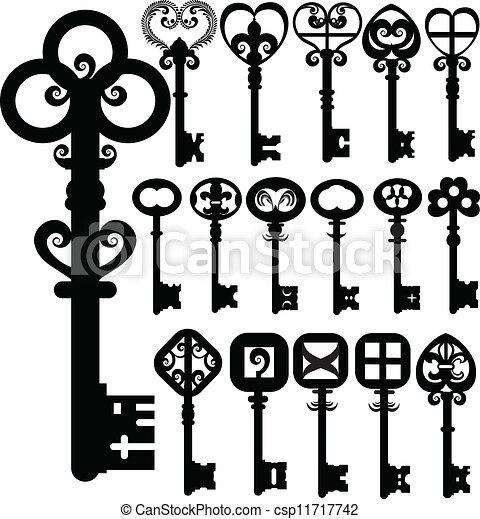 Las llaves viejas diseñan el vector - csp11717742