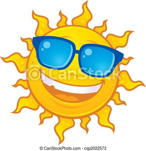 El sol lleva gafas de sol - csp2022573