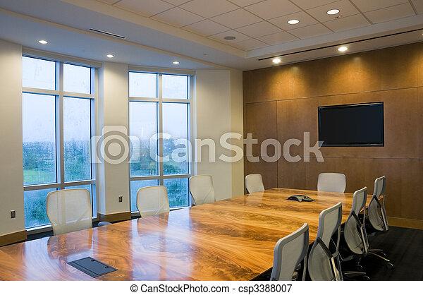 lnterior del edificio de oficinas - csp3388007