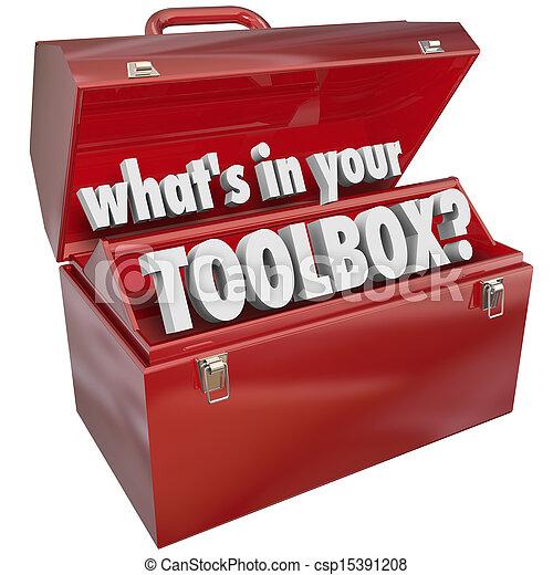 Lo que hay en tu caja de herramientas de metal rojo experiencia - csp15391208