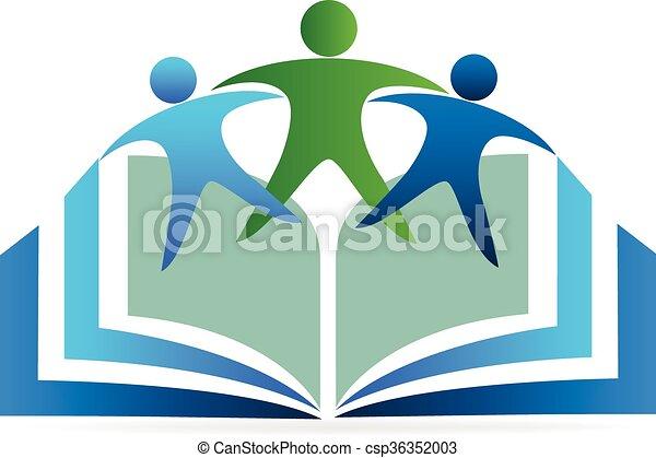 Logo de educación de libros - csp36352003