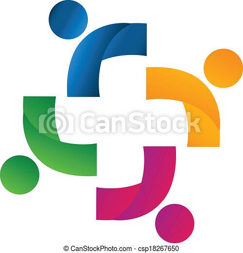 Logo de socios del equipo - csp18267650