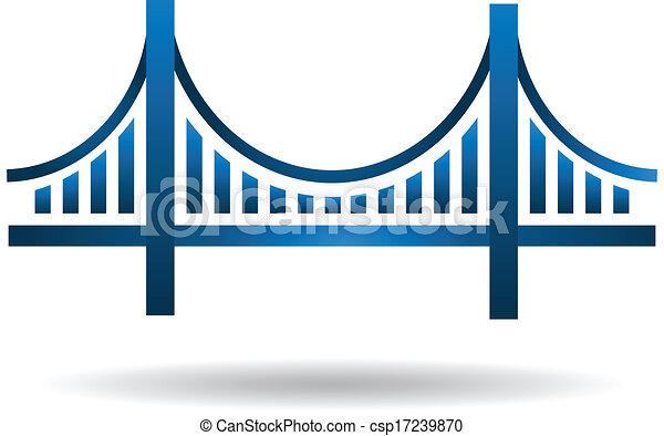 Logo del puente azul Vector - csp17239870
