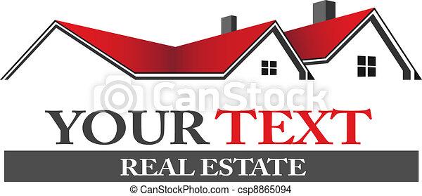 Logotipo de bienes raíces - csp8865094