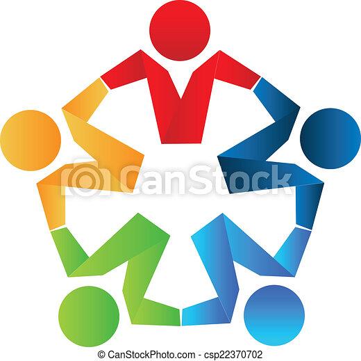 El concepto de socio de Logo - csp22370702