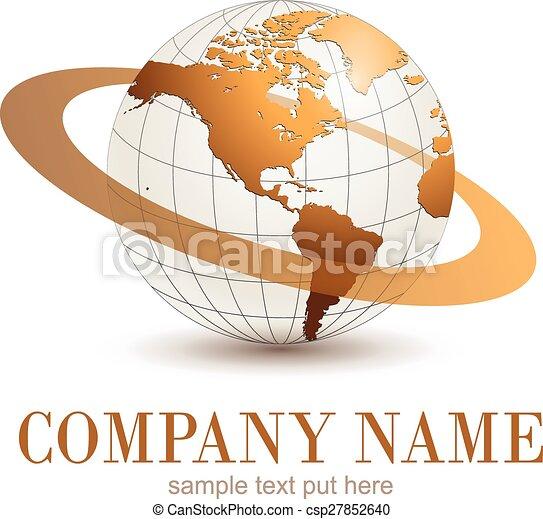 Globo de logo. - csp27852640