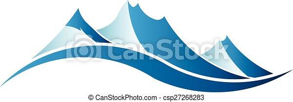 La imagen del logo de las montañas. - csp27268283