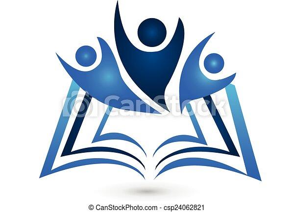 Educación en el logotipo del libro - csp24062821