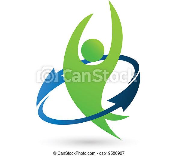 Logo de la naturaleza sana - csp19586927