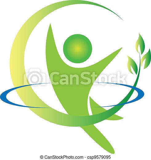 Vector de logotipo de la salud - csp9579095