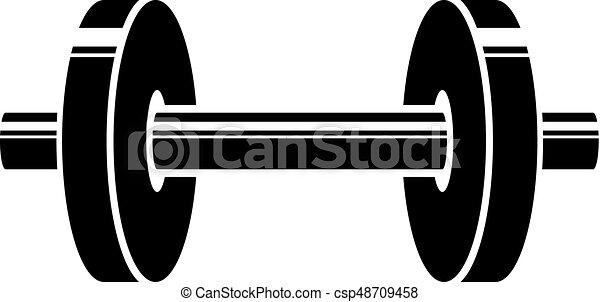 Logotipo vectorial de Barbell, ilustración estilizada. - csp48709458