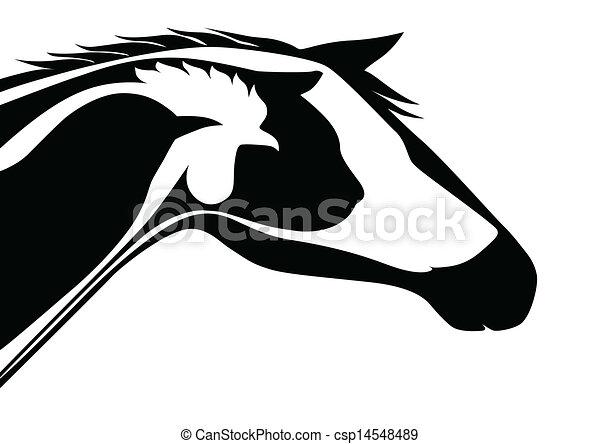 Logo veterinario negro - csp14548489