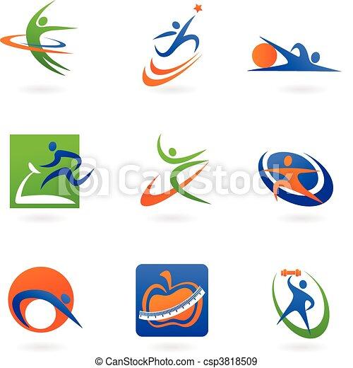 Iconos y logotipos de colores - csp3818509