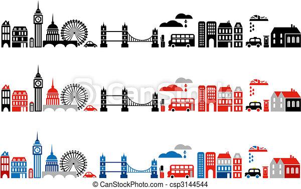 Ilustración vectora de Londres - csp3144544