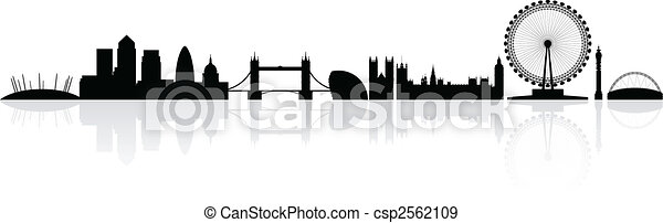 London Skyline Silhouette - csp2562109