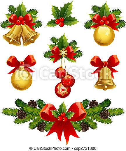 Los adornos navideños - csp2731388