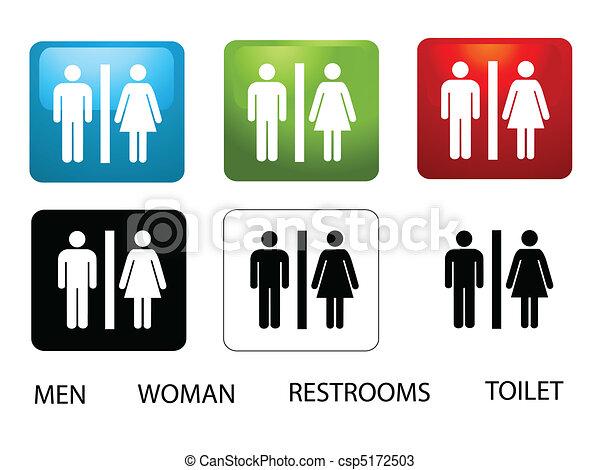 Los baños de mujeres y hombres - csp5172503