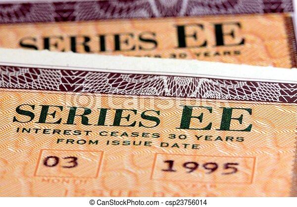 Los bonos de ahorro de los Estados Unidos - csp23756014
