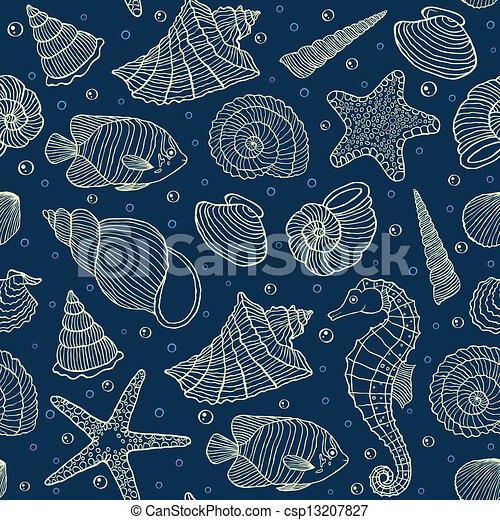 Los habitantes del océano - csp13207827