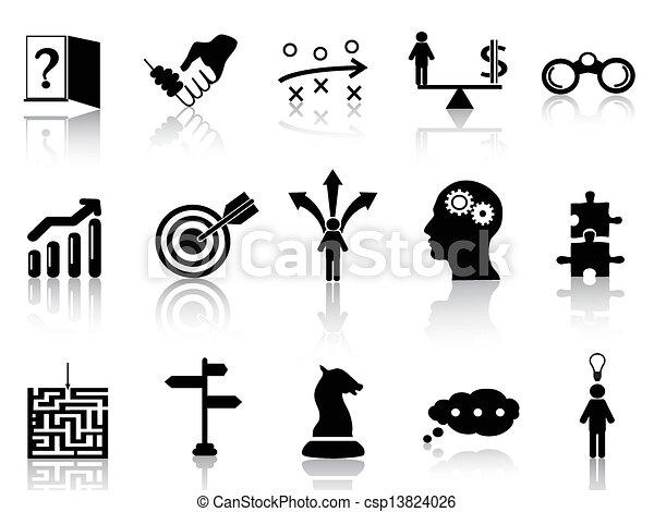 Los iconos de la estrategia de negocios - csp13824026