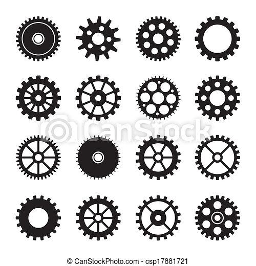 Los iconos de la rueda de engranaje marcan 2 - csp17881721