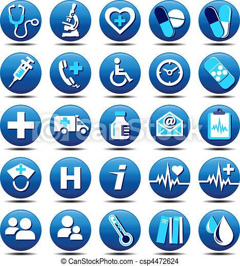 Los iconos de la salud - csp4472624