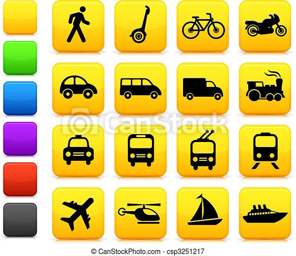 Los iconos de transporte diseñan elementos - csp3251217