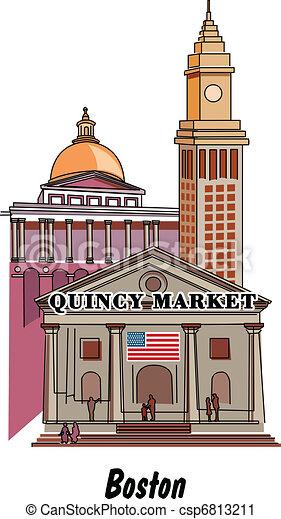 Los Massachusetts de Boston incluyendo Quinn - csp6813211