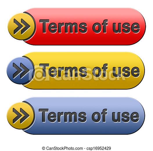 Los términos de uso - csp16952429