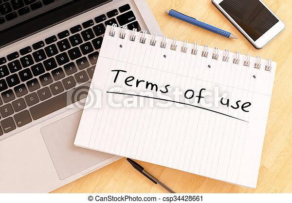 Los términos de uso - csp34428661